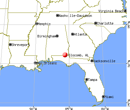 Slocomb, Alabama map