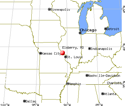 Elsberry, Missouri map