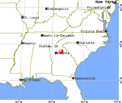Statham, Georgia map