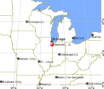 Beecher, Illinois map