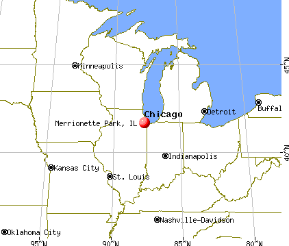 Merrionette Park, Illinois map