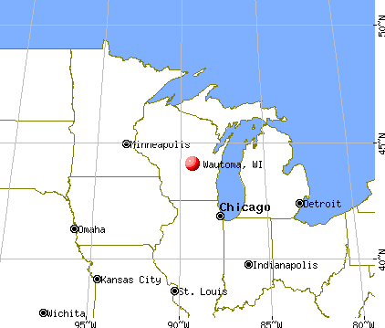 Wautoma, Wisconsin map