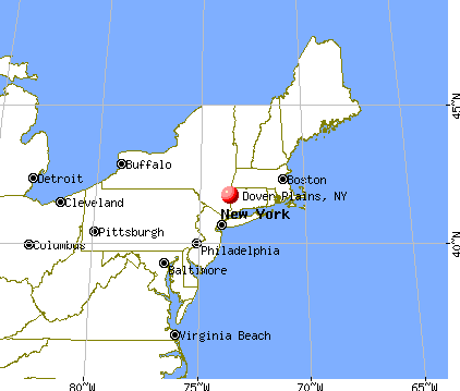 Dover Plains, New York map