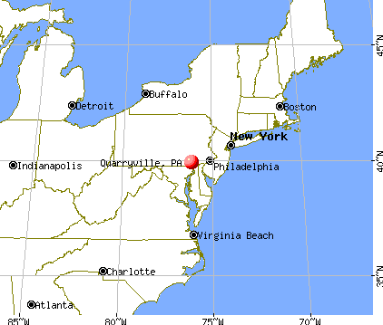 Quarryville, Pennsylvania map