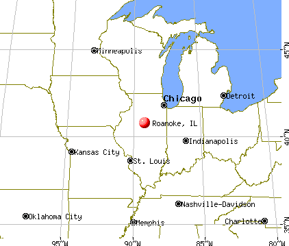 Roanoke, Illinois map
