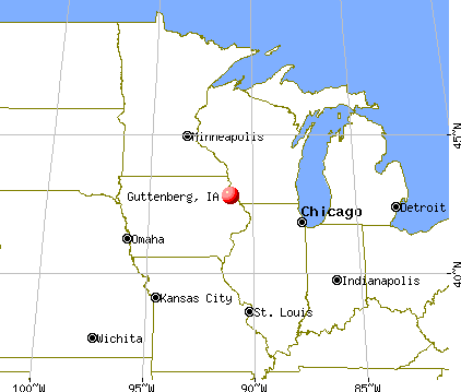 Guttenberg, Iowa map