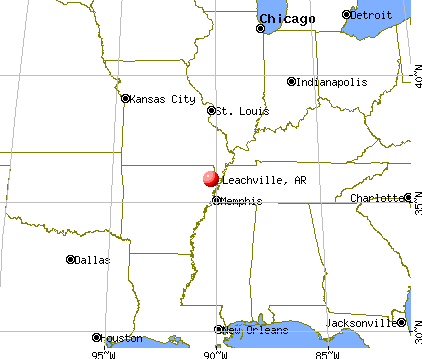 Leachville, Arkansas map