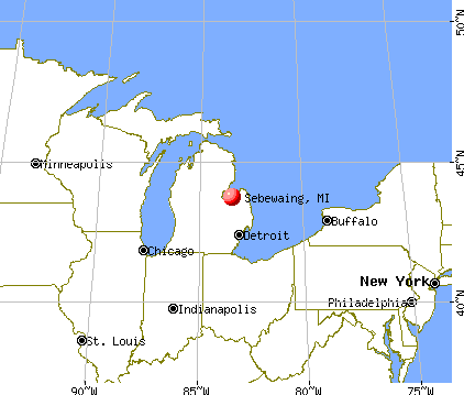 Sebewaing, Michigan map