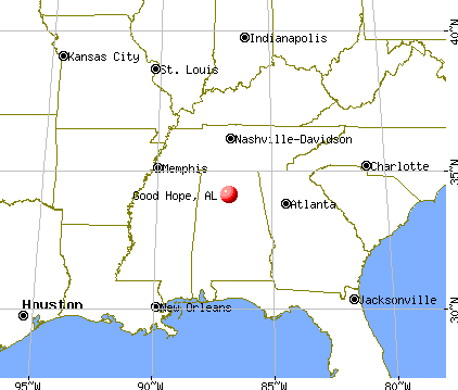 Good Hope, Alabama map
