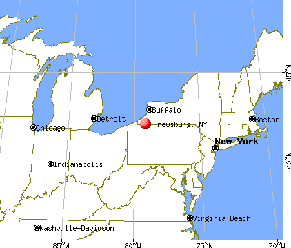Frewsburg, New York map