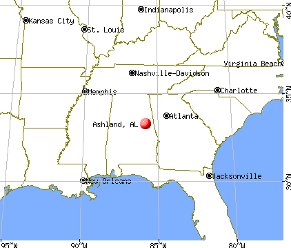 Ashland, Alabama map