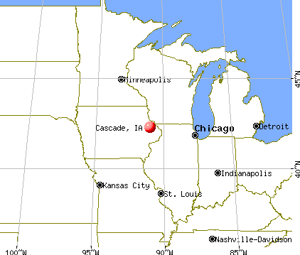 Cascade, Iowa map