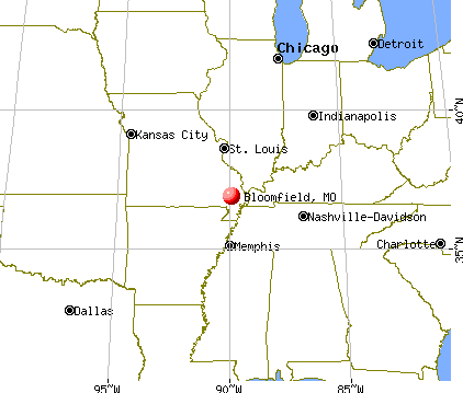 Bloomfield, Missouri map