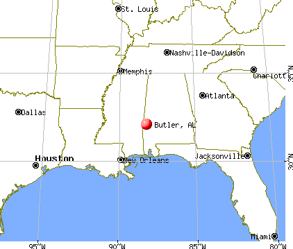 Butler, Alabama map