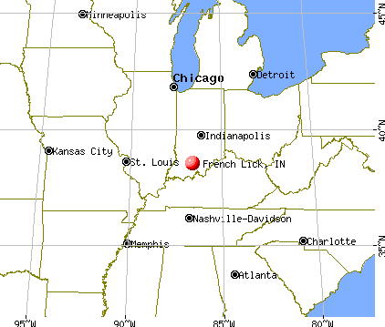 French Lick, Indiana map