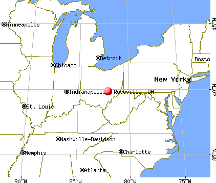 Roseville, Ohio map