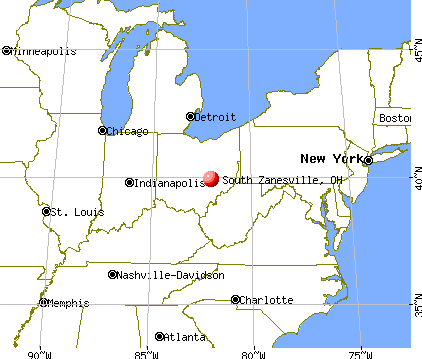South Zanesville, Ohio map