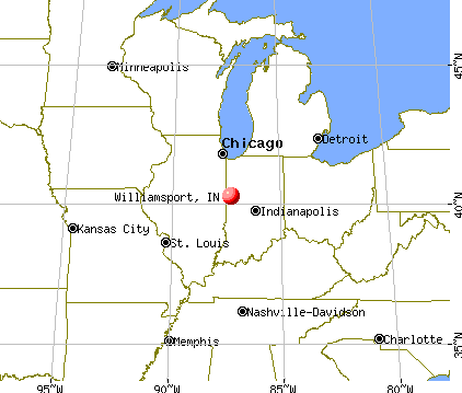 Williamsport, Indiana map