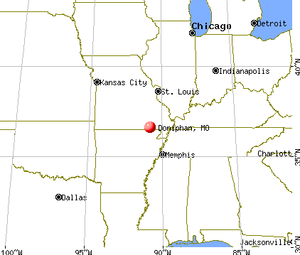 Doniphan, Missouri map