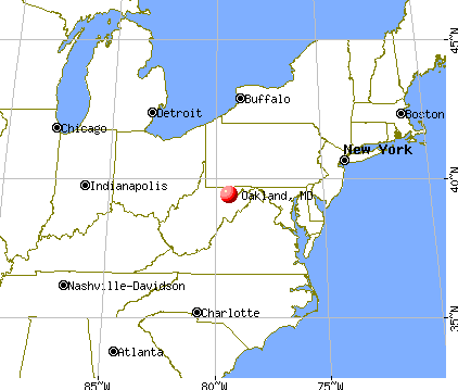 Oakland, Maryland map