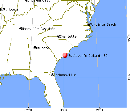 Sullivan's Island, South Carolina map