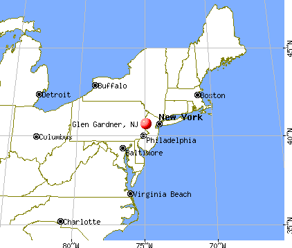 Glen Gardner, New Jersey map