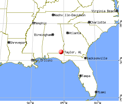 Taylor, Alabama map