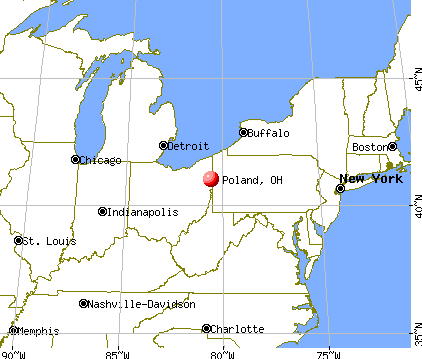 Poland, Ohio map