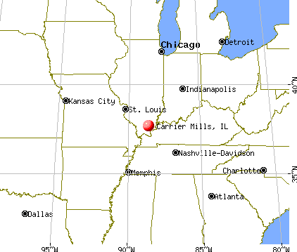 Carrier Mills, Illinois map