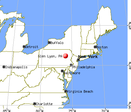 Glen Lyon, Pennsylvania map