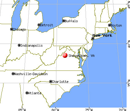 Shenandoah, Virginia map