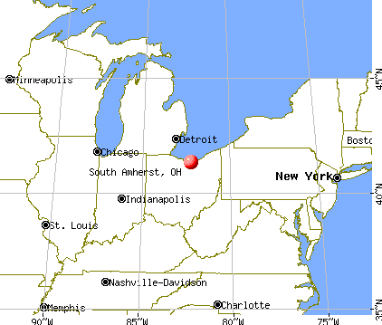 South Amherst, Ohio map