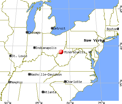 Mineralwells, West Virginia map