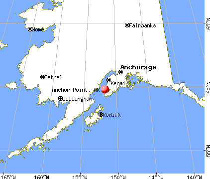 Anchor Point, Alaska map