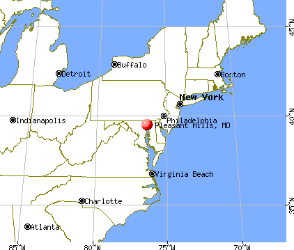 Pleasant Hills, Maryland map