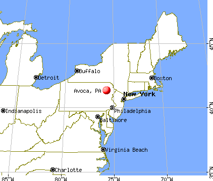 Avoca, Pennsylvania map