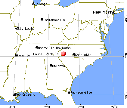 Laurel Park, North Carolina map