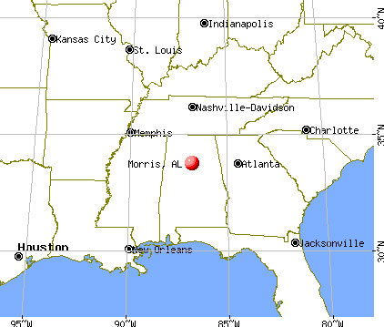Morris, Alabama map