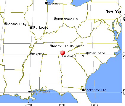 Hopewell, Tennessee map