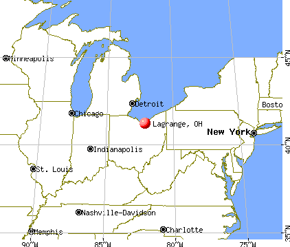 Lagrange, Ohio map