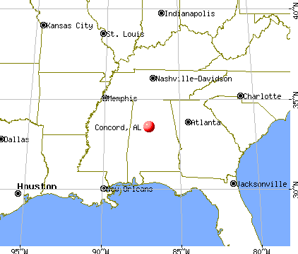 Concord, Alabama map