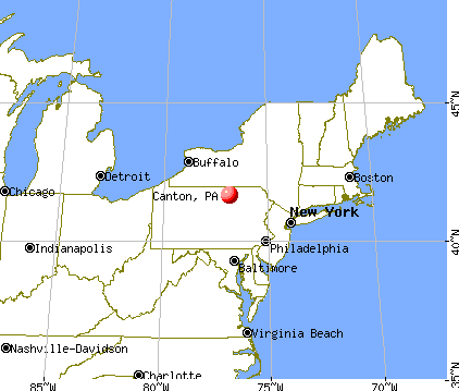 Canton Pennsylvania PA 17724 profile population maps real