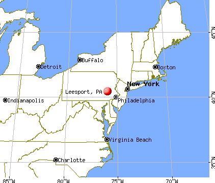 Leesport, Pennsylvania map