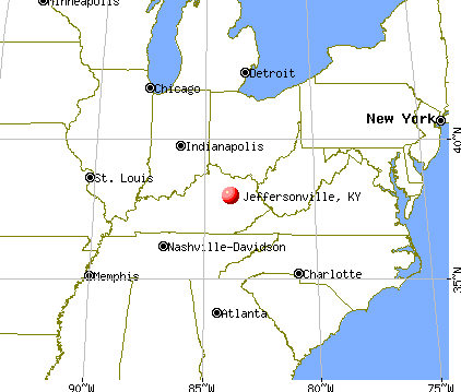 Jeffersonville, Kentucky map