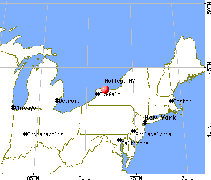 Holley, New York map