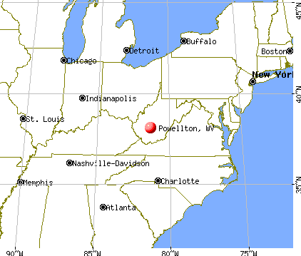 Powellton, West Virginia map