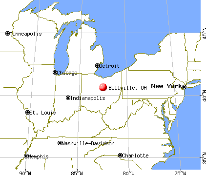 Bellville, Ohio map