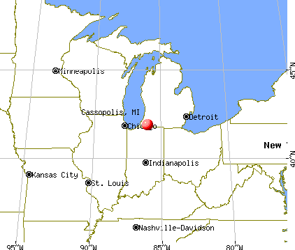 Cassopolis, Michigan map