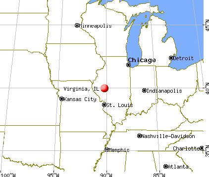 Virginia, Illinois map