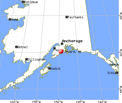 Seward, Alaska map